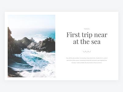 Tripbook - New UI blog design travel clean minimal ux ui