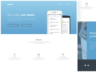 109Leadr - Landing page design bootstrap css html android ios application app clean minimal ux ui