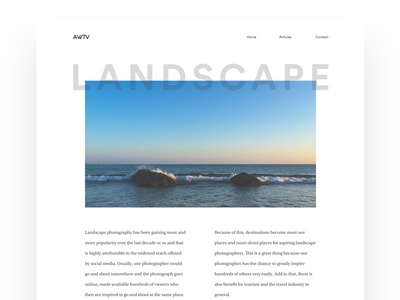 AWTV - Design clean design travel blog minimal ux ui
