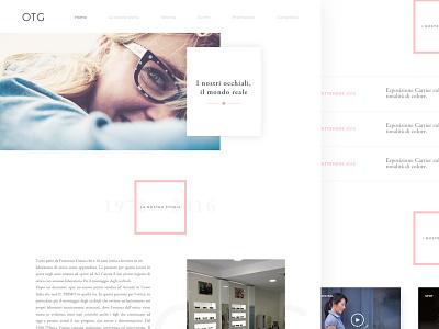 Optics website web design clean minimal design ux ui