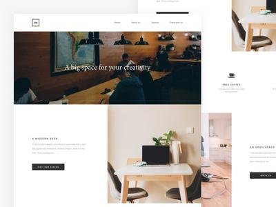 CW - Redesign web webdesign landing page design clean minimal ux ui