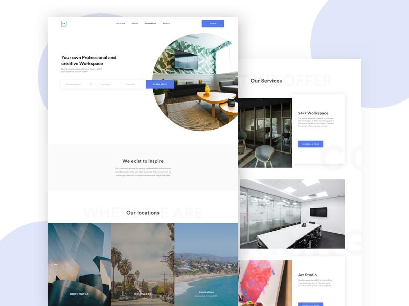 CW - redesign uidesign web design landing pages landing minimal design ux ui