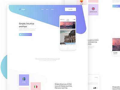 Shapes - Landing App minimal application app design uxdesign uidesign landing page web design ui ux