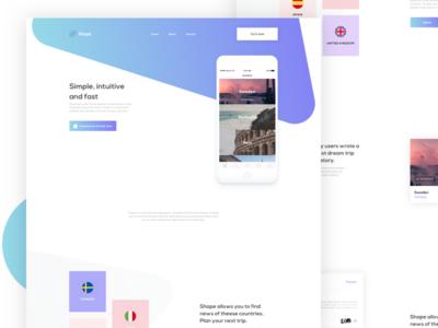 Shapes - Landing App