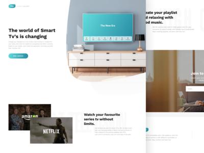 FiTv - Landing Page minimal app web landing design ux ui