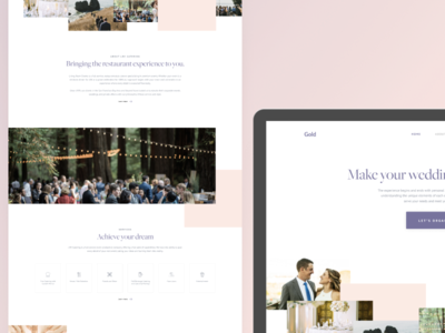 Gold Catering - Homepage flat concept ui website landing page user interface typography minimal clean responsive design uidesign homepage design web web design ui  ux ux