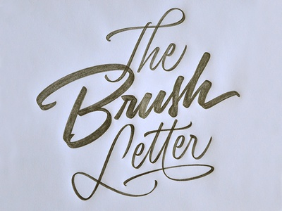 T&L The Brush Letter brush script lettering workshop sketch calligraphy type typography logo design