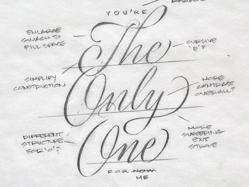 67646085a70d17 You re The Only One Sketch by Ken Barber   Dribbble   Dribbble