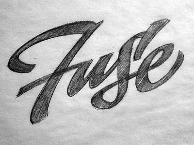 Fuse Logo Sketch script lettering calligraphy typography logo type sketch drawing workshop fuse indianapolis fusesessions