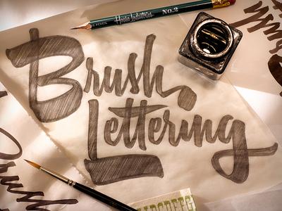 Brush Lettering Workshop in NYC workshop typography type sketch script logo lettering design calligraphy brush