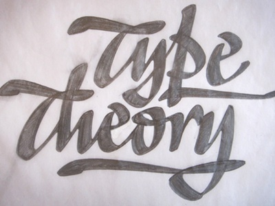 Type Theory lettering pencil sketch pen script logo