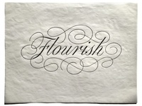 Flourish script sketch