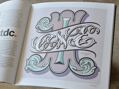 TDC No.1 polychromatic wood type engraving vernacular signage tuscan lettering script flourish acanthus one hand-drawn hand-lettered hand-lettering vector numeral number tdc type directors club celebrate 65