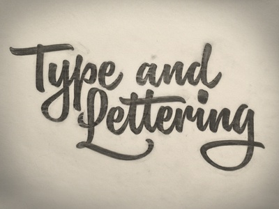 Type and Lettering lettering script pencil sketch drawing hand-drawn hand-lettered hand-lettering brush brush script pencil case type and lettering