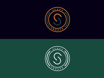 scout logo branding minimal logo logodesign typogaphy adobe illustrator scout logo ss logo s simble s logo