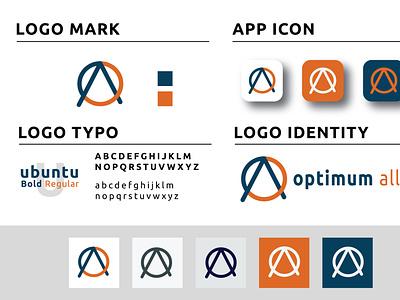 OA letter logo Design design adobe illustrator typogaphy minimal logodesign branding logo graphic design