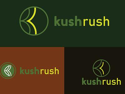 Kush Rush logo cannabis logo kr logo kr kush rush logo design minimal logodesign typogaphy branding logo graphic design