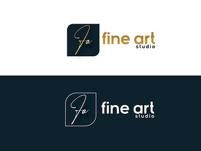 fa or Fine Art logo minimal logodesign typogaphy graphic design branding logo