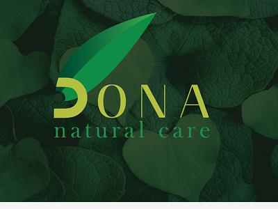 Natural Care DONA LOGO dona logo design minimal logo branding typogaphy logodesign