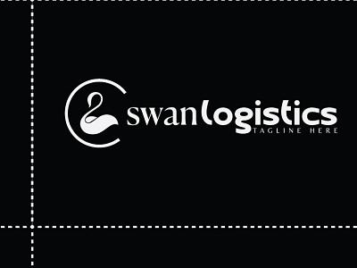 swan logistics LOGO logistics comapny logo logistics logo swan logo design minimal logo adobe illustrator branding typogaphy logodesign