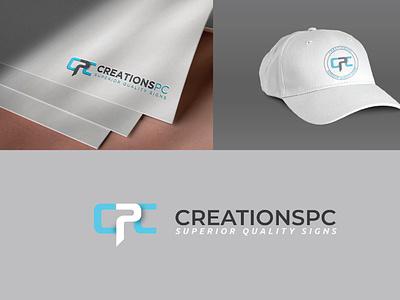 CPC CREATIONSPC LOGO advertising logo design minimal logo adobe illustrator branding typogaphy logodesign
