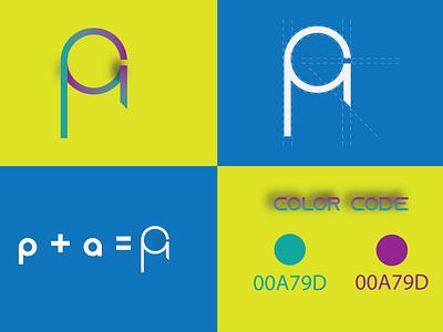 PA Letter Logo pa letter pa letter logo pa pa logo minimal branding logo graphic design