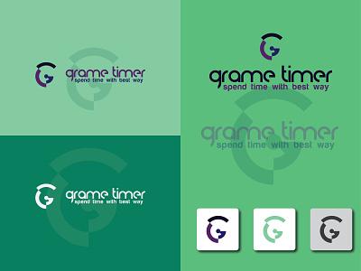 Grame Timer Logo Design g design g timer logo timer logo g letter logo g logo g letter grame timer minimal branding logo graphic design