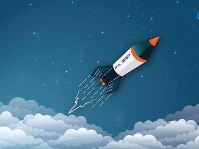 Rocket Illustration rocket illustration design rocket design rocket illustration rocket vector rocket vector design adobe illustrator graphic design