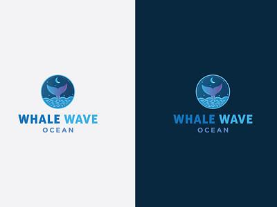 WHALE WAVE OCEAN LOGO flat logo blue whale logo blue wave logo wave logo whale logo ocean logo whale wave logo minimal logo branding logodesign