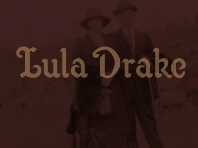 Lula Drake custom logotype custom letters logotype 1920s 1920s typography riggs partners south carolina columbia vintage type custom logotype type design typography lula drake