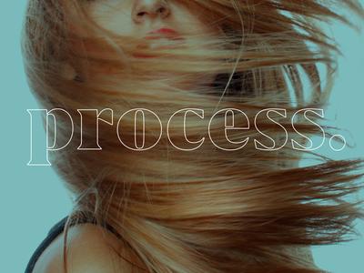 Process Hair Salon Logotype
