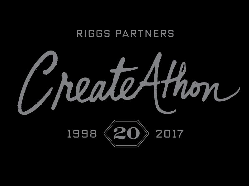 Riggs Partners CreateAthon 20 custom logotype script creative marathon south carolina columbia riggs partners twenty 20 xx ink createathon creative without a curfew