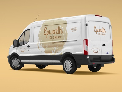 Epworth Ice Cream Ford Transit Van Design