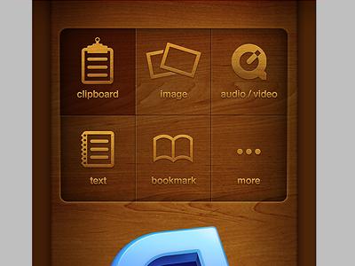 iOS app upload menu ios apple wood cloudapp droplr more wood mahogany whisky and my pal baxter