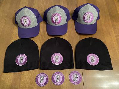 Noise in your mind Hats hats merchandise branding design logo