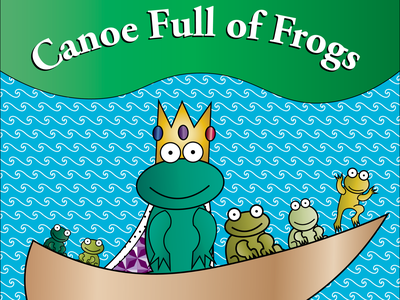 Canoe Full of Frogs frogs author self published childrens book illustration graphic design