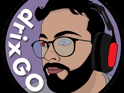 drixGo streaming logo illustration naruto streaming branding logo