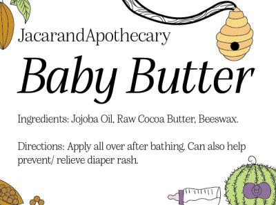 JacarandApothecary Labels health  beauty design branding illustration