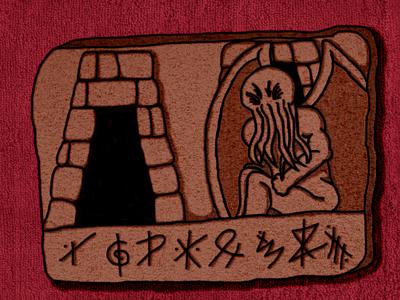 The Call of Cthulhu Illustrations cthulhu loveraft horror design illustration