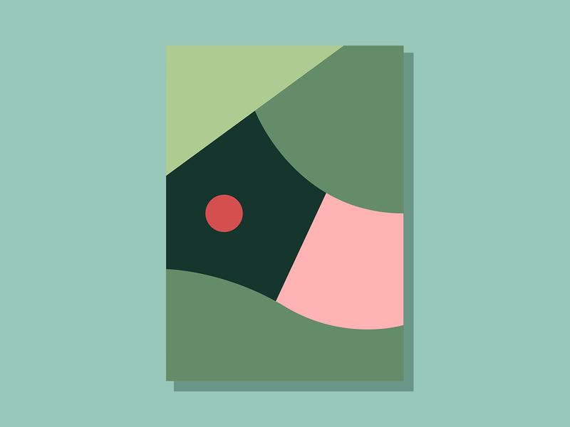 E04P2 color design theoretical conceptual abstract art minimalist clean simple geometric illustration vector illustration vector