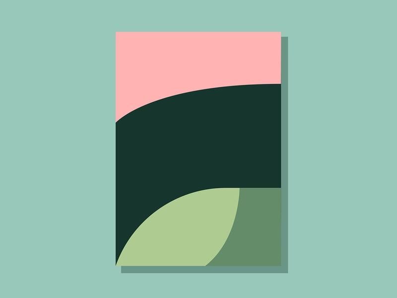 E06P2 color design theoretical conceptual abstract art minimalist clean simple geometric illustration vector illustration vector