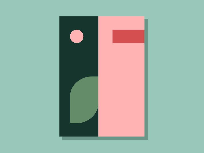 E09P2 color design theoretical conceptual abstract art minimalist clean simple geometric illustration vector illustration vector