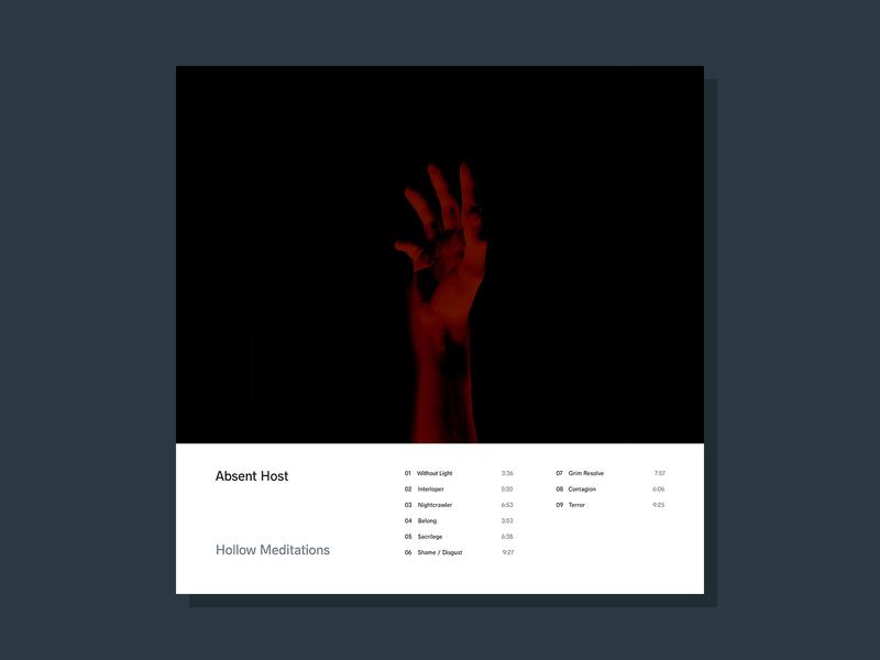 Hollow Meditations simple minimalist cover design album artwork photography sleeve cover art lp music