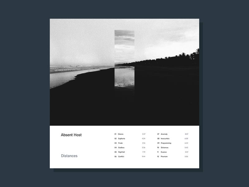 Distances electronic sleeve simple photography music minimalist lp cover design cover art album artwork