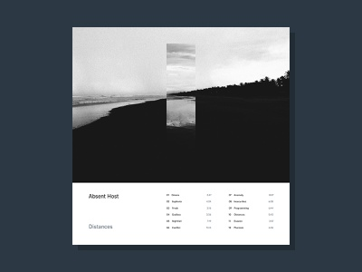 Distances electronic sleeve simple photography music minimalist lp cover design cover art album artwork