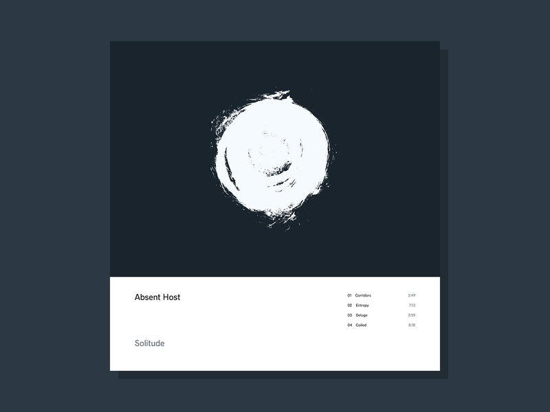 Solitude simple sleeve music electronic ambient abstract ink minimalist lp cover design cover art album artwork