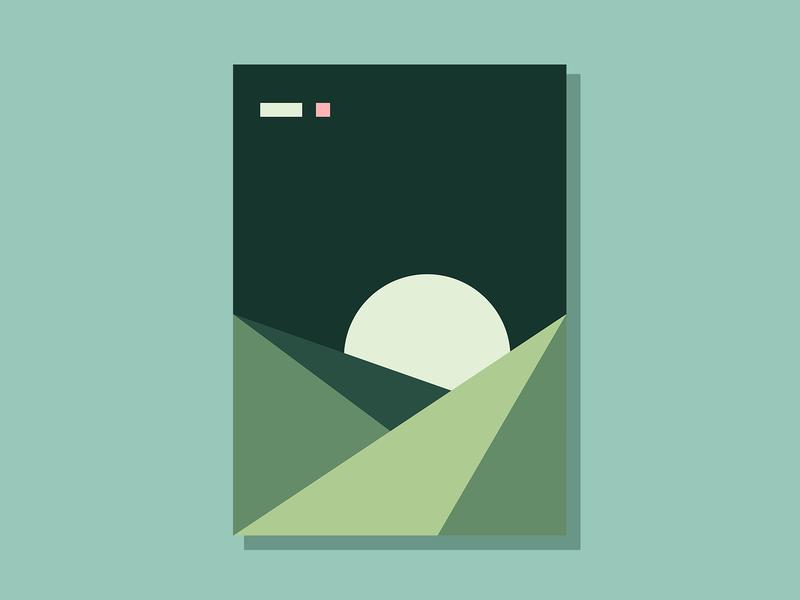 E10P2 color conceptual art abstract minimalist clean geometric simple illustration vector