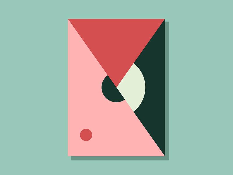 E11P2 color conceptual art abstract minimalist clean geometric simple illustration vector