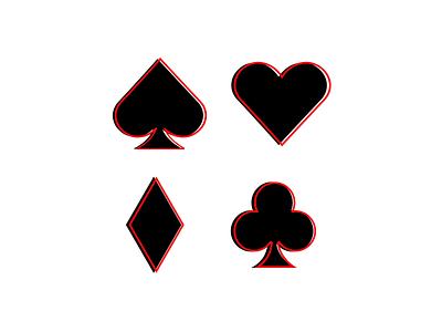 Card Suits minimal vector illustration