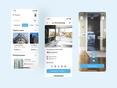 Rent-a-House App Concept flat ux ui minimal design app